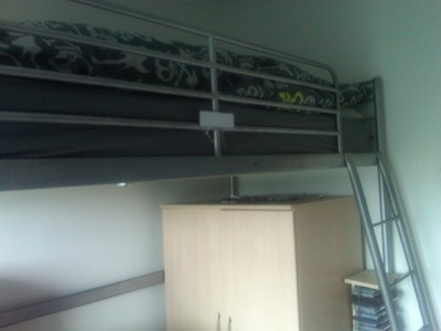 Platform  Frames Ikea Furniture on Ikea Loft Bed Single Metal Frame   Rotherham   Furniture For Sale